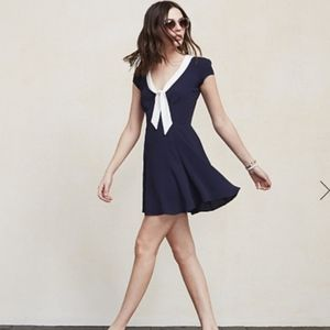NWT sz S Reformation Limestone mini sailor dress